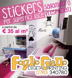 Foglio Giallo Digital Printing - Stickers
